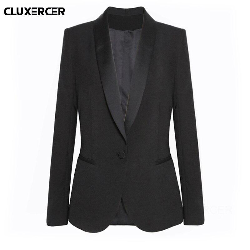 Wine Black Women Blazers And Jackets 2018 New Spring Autumn Fashion Single Button Blazer Femenino Ladies Blazer Female