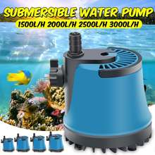цены 220V 25/35/45/60W Home Submersible Water Pump Submersible Waterfall Fountain Pump for aquarium fish tank for Garden Fountain New