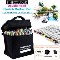 160 PC Colors Double Headed Sketch Marker Pen 24 36 48 60 72 PC Standards Set