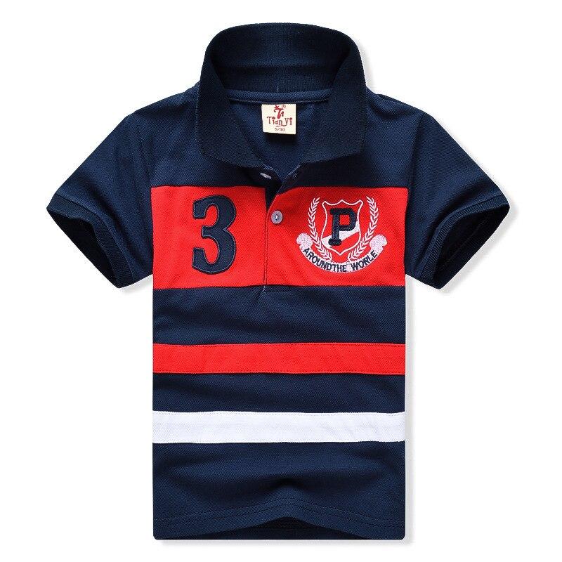 New 2017 Children Clothing 2-7yrs Polo Shirts For Boys High quality Stripe Boys  Clothes
