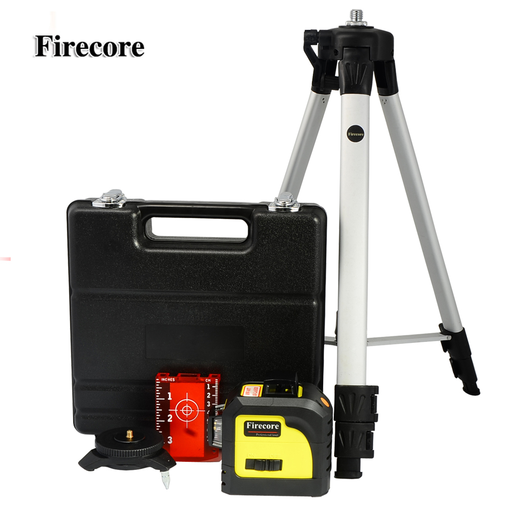 Firecore 12Lines 3D 93T Laser Level Super Powerful Laser Beam Line + 1.4M Tripod