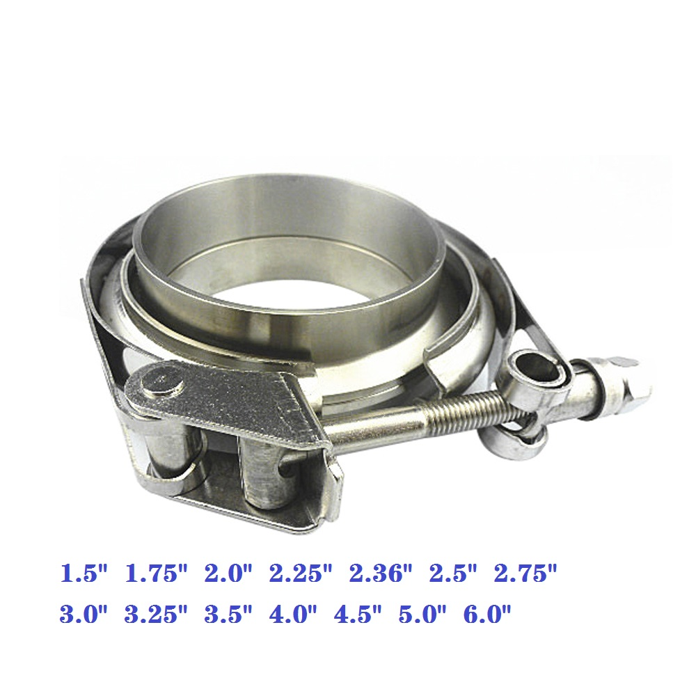 ZUCZUG 1 5-6 0inch  Stainless steel 304 Quick release VBand clamp with male female flange for exhaust pipe nylon nut