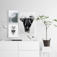 Abstract Nordic Landscape Canvas Painting Black White Poster Print Typography Wall Art Picture for Living Room Home Office Decor(China)