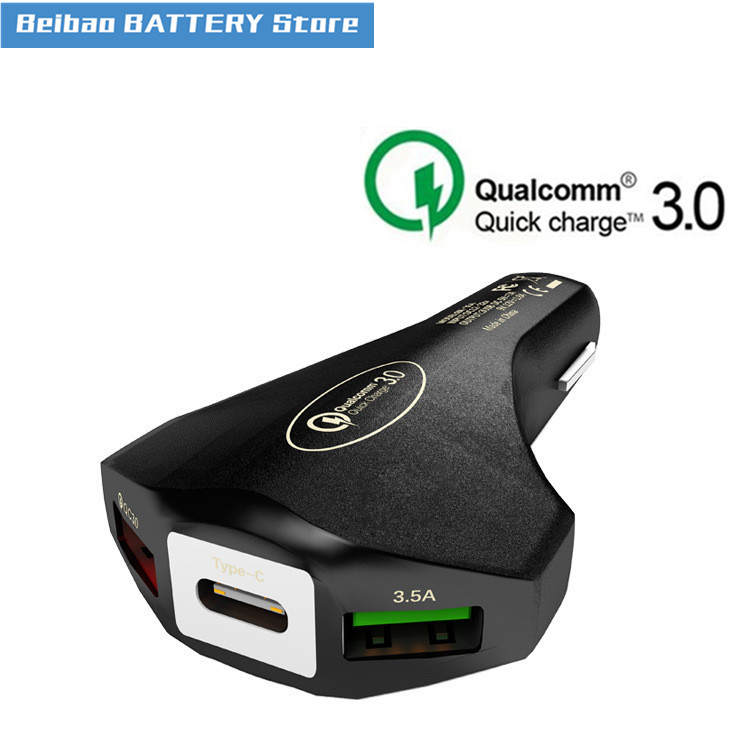 Car Charger Vehicle Charging Intelligent QC3.0 Fast Charging 3usb Vehicle Charging 7A Multifunctional Vehicle Charger