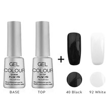 KADS 4pcs/set Top coat Nail Gel Polish Fashion UV Gel Polish Varnish 7ML Soak Off Long-Lasting Nail Art Gel for nail makeup