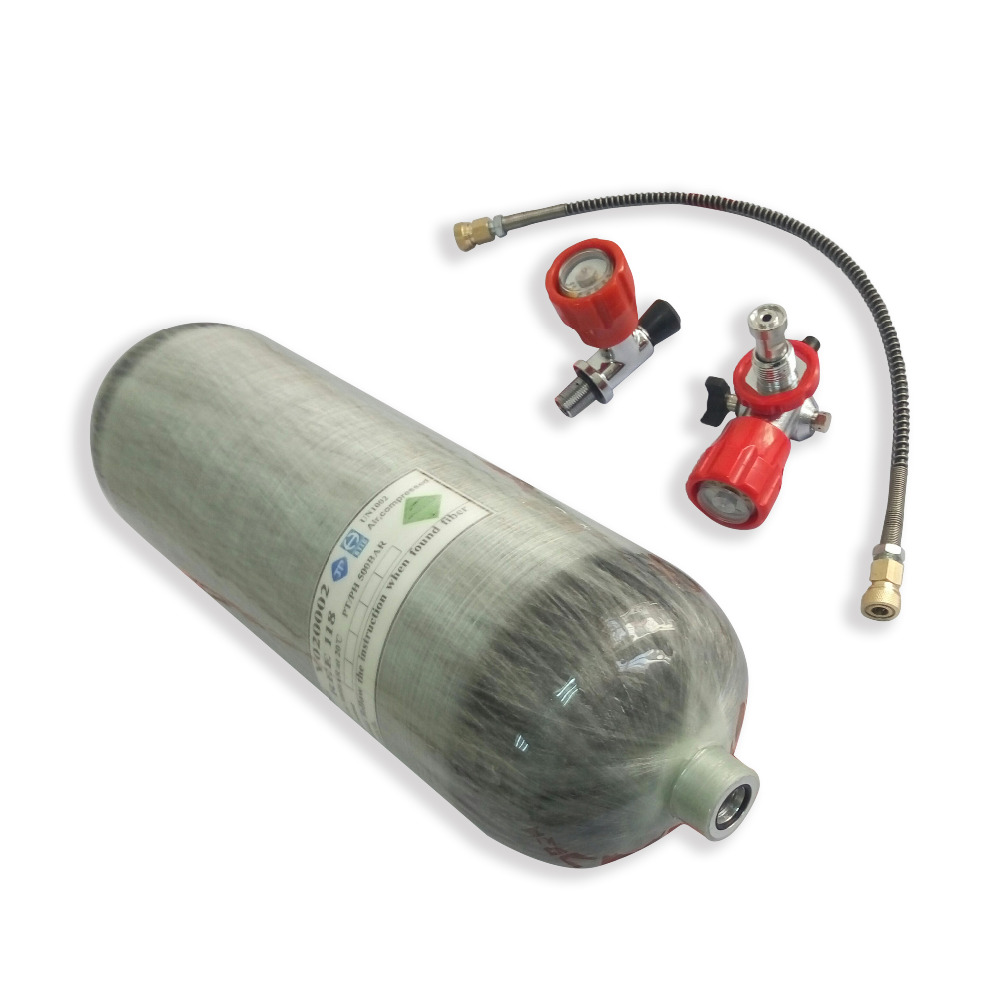 AC168101 6.8L DOT Scuba Diving Tank High Pressure Cylinder Compressor Diving Cylinder Compressed Air Scuba Tank 4500Psi Acecare