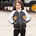 LouisDog chaquetas de Invierno para las adolescentes niños ropa de abrigo abrigos niños chaqueta de béisbol 2016 Otoño Invierno ropa de las muchachas