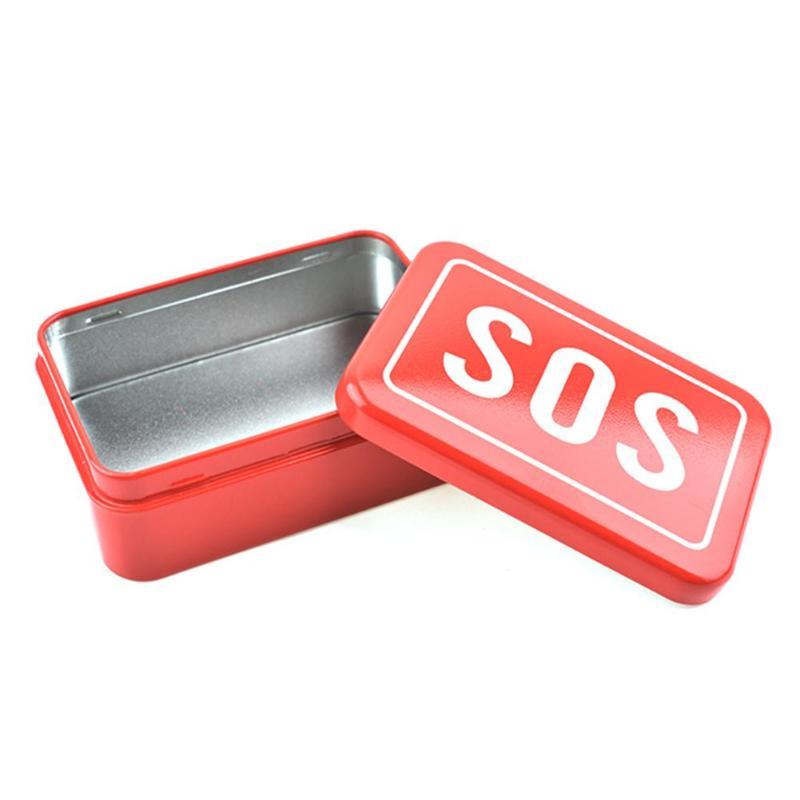 1pcs Outdoor SOS Tool Storage Box Camping Hiking Emergency Survival Tool Set Multi-function Wildlife SOS Tool Box