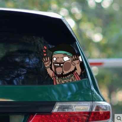 One Piece personnalité drôle créatif fenêtre serrant visage dessin animé voiture autocollant voiture personnalité modification fournitures-464
