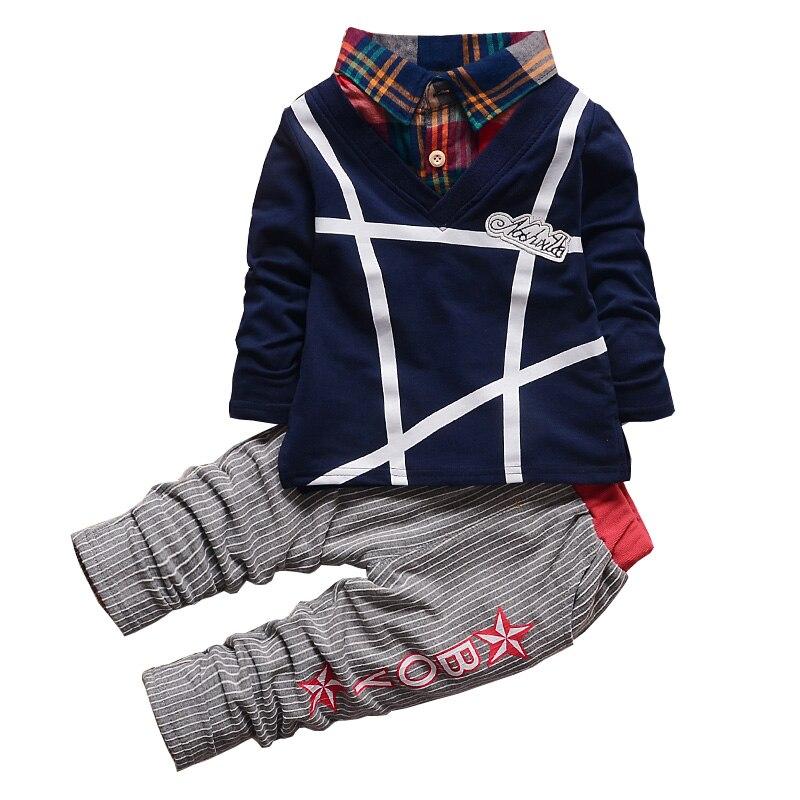 Bibicola/Комплекты одежды для мальчиков младенцев Демисезонный Новая мода для мальчиков Обувь для девочек 2 шт. спортивный костюм комплект детской одежды одежда для маленьких мальчиков