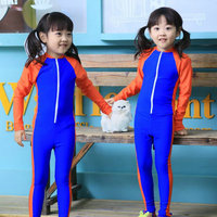 Brand New Lovely Baby Swimming Clothes Boys Girls One Pieces Long Sleeve Swimwear Fashion Sun Clothing
