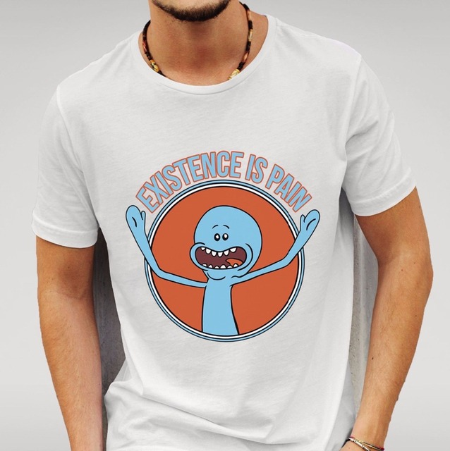Rick and Morty Meeseeks Existence Is Pain Men'S T-Shirt QRxjoSc