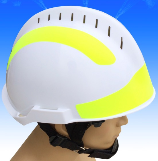 ABS material fire rescue helmet ,f2 Rescue Helmet , White helmet used for fire fighting ...