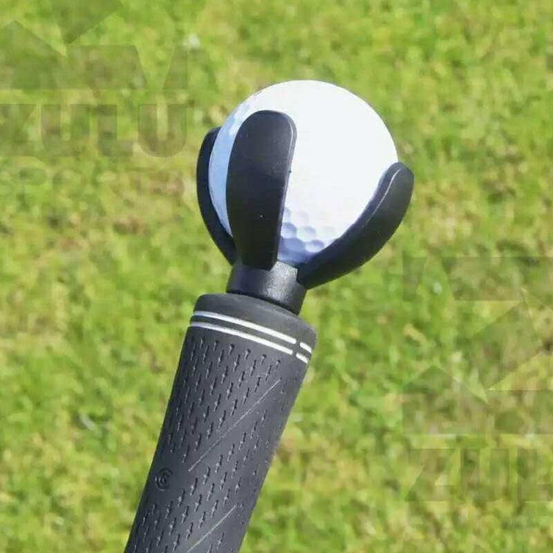 4-Prong Golf Ball Pick Up Retriever Grabber Claw Sucker Tool For Putter Grip