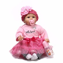 Subcluster 1 Pcs 22 55 cm Handmade Doll Reborn Lifelike Soft Silicone Baby Dolls For Girls Kids Birthday Gifts