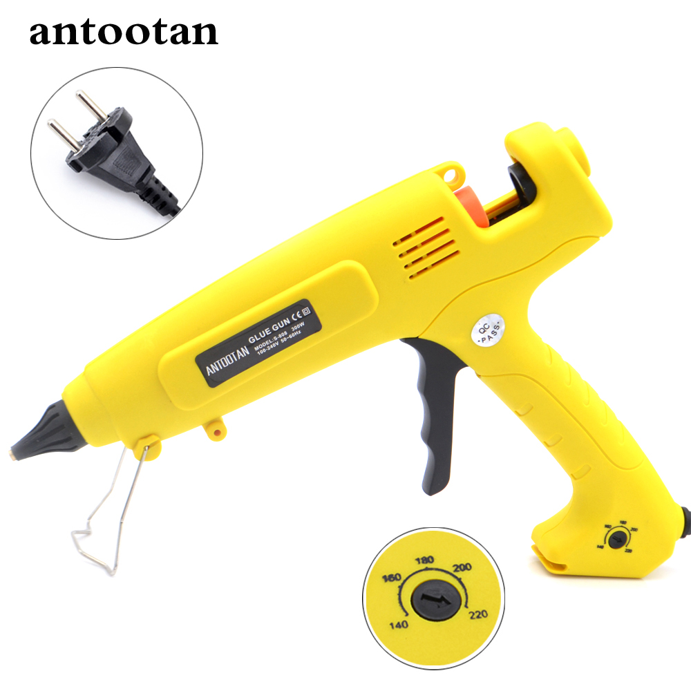 110V-220V 300W EU Plug Hot Melt Glue Gun Smart Temperature Control Copper Nozzle Heater Heating Wax 11mm Glue Stick 1pc glue pot 100g italian keratin glue keratin glue bead hot pot glue stove temperature control hair extension styling tools