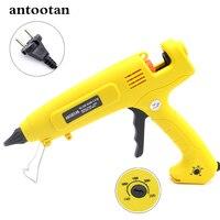 110V 220V 300W EU Plug Hot Melt Glue Gun Smart Temperature Control Copper Nozzle Heater Heating Wax 11mm Glue Stick