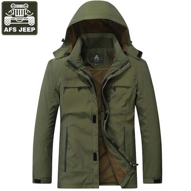 Aliexpress.com : Buy AFS JEEP 2017 Jacket Men Windbreaker Outwear ...