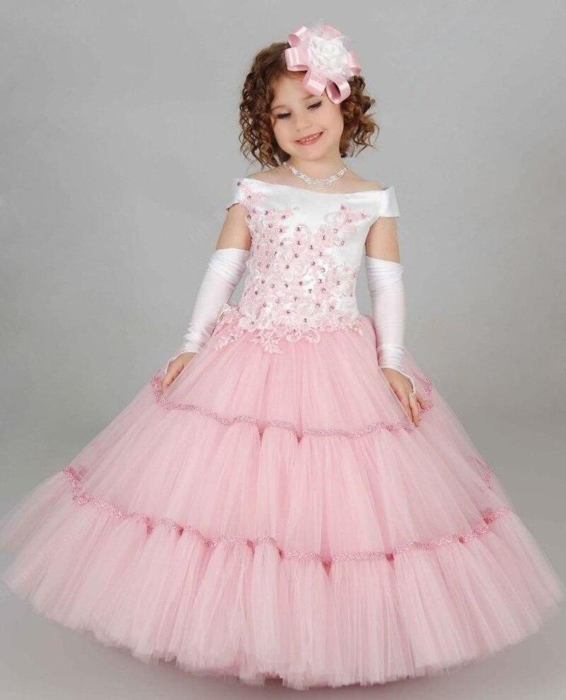 Precioso Desfile de La Muchacha Vestidos para Niños Vestidos de ...
