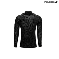 Gothic black New Rock Personality bandage Men's T shirt Steampunk Motocycle Casual street T SHIRT Top Punk Rave T 467