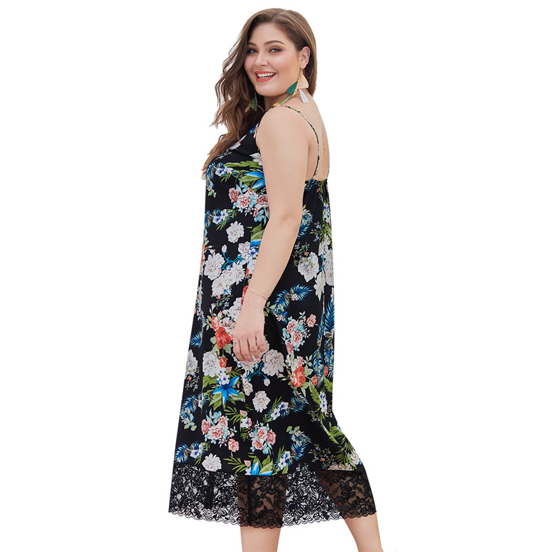 Women Dress Summer Floral Overlap Dress Spaghetti Strap Half Sleeves Floral Print Beach Dress Plus size in Dresses from Women 39 s Clothing