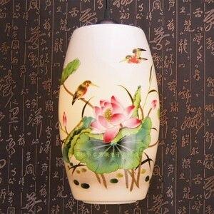 Image 2 - Novo chinês pingente lâmpada para cozinha sala de jantar sala estar suspensão luminária pendurado cerâmica quarto lustres luminárias