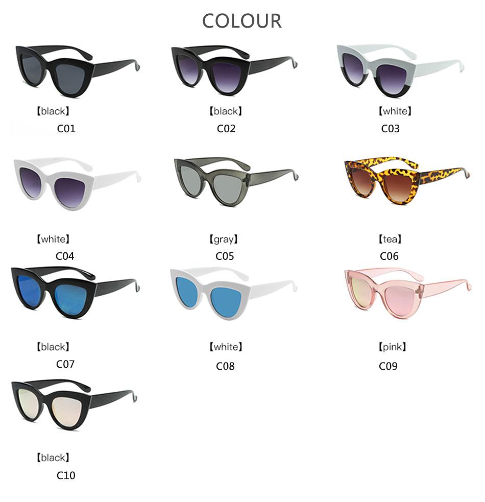 Black Classic Cat Eye Women Sunglasses Designer Brand Trend Style Glasses Adult Eyeglasses 4