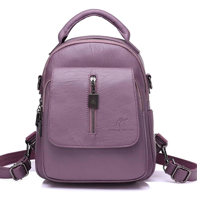 Korean PU Leather Women Backpack High Quality Preppy Style Women School Bag For Teenage Girls Travel Top-handle Mochila Feminina women back bag high quality mochila new 2017 women s backpack for teenage girls waterproof nylon preppy style school bags