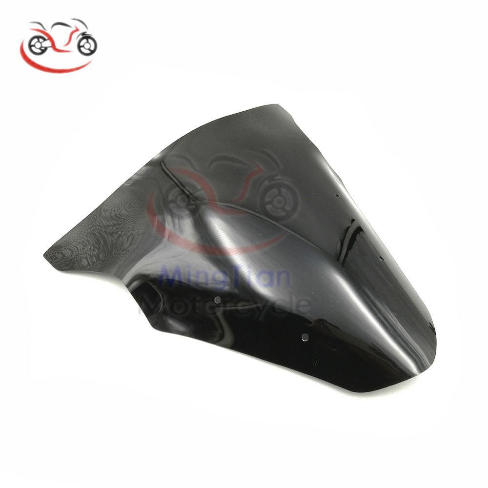 Motorbike Double Bubble WindScreen Windshield Wind Deflectors Motorcycle screen Airflow Fit For Kawasaki Ninja 650 ER6F 12-16 Black