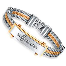 Granny chic Charm Bracelet For Women Silver Gold Stainless Steel 12mm 18.5cm size Bracelets & Bangles Men Jewelry