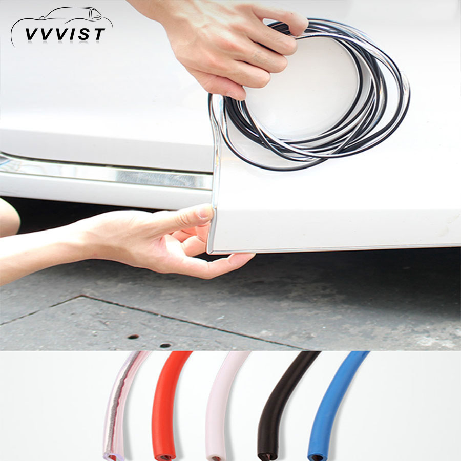 2018 VVVIST Car Interior Mouldings Door Scratch Protector Edge Guard Cover Crash Bar Anti Collision Sticker Strip Auto Styling covers car door edge guards trim molding protection strip auto scratch protector crash barriers guard collision car sticker
