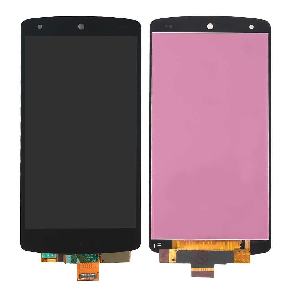 ل LG nexus 5 شاشة D820 D821 شاشة الكريستال السائل محول الأرقام بشاشة تعمل بلمس مع الحافة الجمعية الإطار استبدال ل nexus 5 عرض