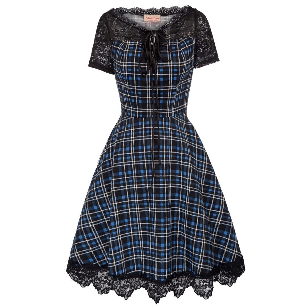 vintage dresses 50s 60s summer casual pin up etro Women Short Sleeve Lace Cotton Patchwork A-Line Party retro Dress