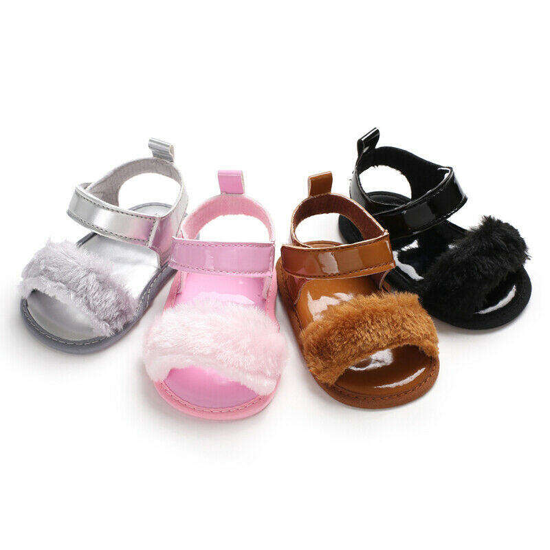 2019 Infant Baby Boys Girls Sandals Fashion Summer Unisex Baby Soft Bottom Shoes Plush Leather Shoes Sandals For 0-18Months