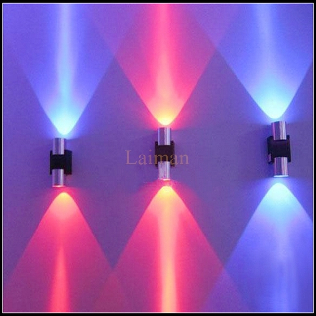 Stick On Wall Lights: Hot sale 2W LED Wall Light Sconce Decor Fixture with Scattering Light Metal  Straight Stick Body,Lighting
