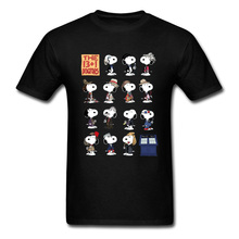 Doctor Who Peanuts Comic T Shirts Corgi Terrier Dog Dr Who Tshirt Tardis Back To the Space Ship Dalek Funny T Shirt 3D Men цена и фото