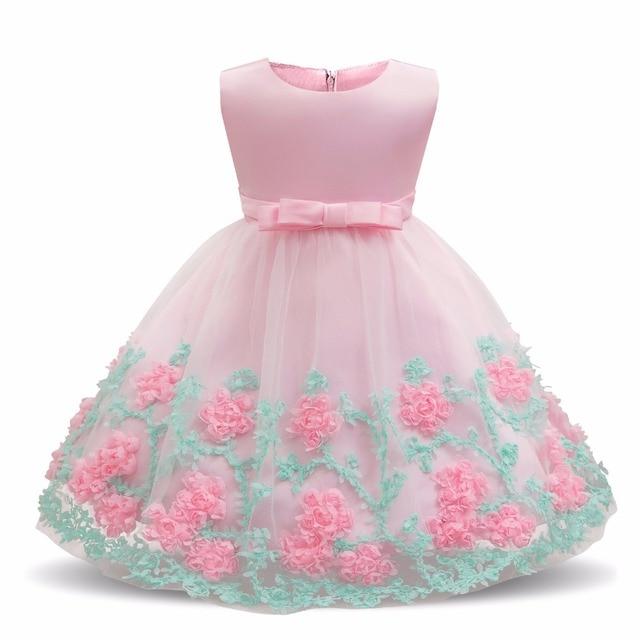 7b3fd3130172 Neonato Neonata di Battesimo del Vestito Infantile Abiti Da Damigella  D onore Per Le Bambine