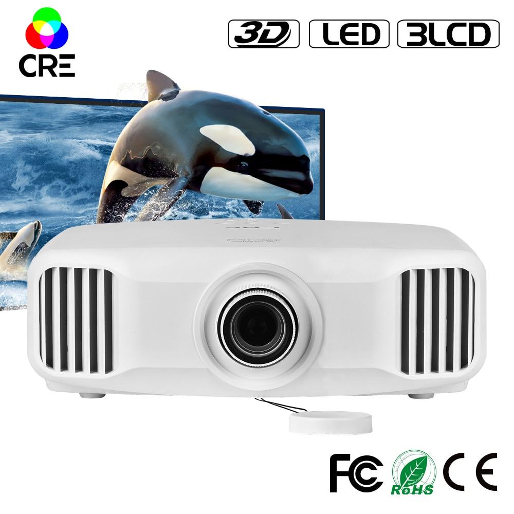 3LCD <font><b>LED</b></font> full HD 1080P 1920*1200 support <font><b>4k</b></font> home theater <font><b>projector</b></font> CRE X8000