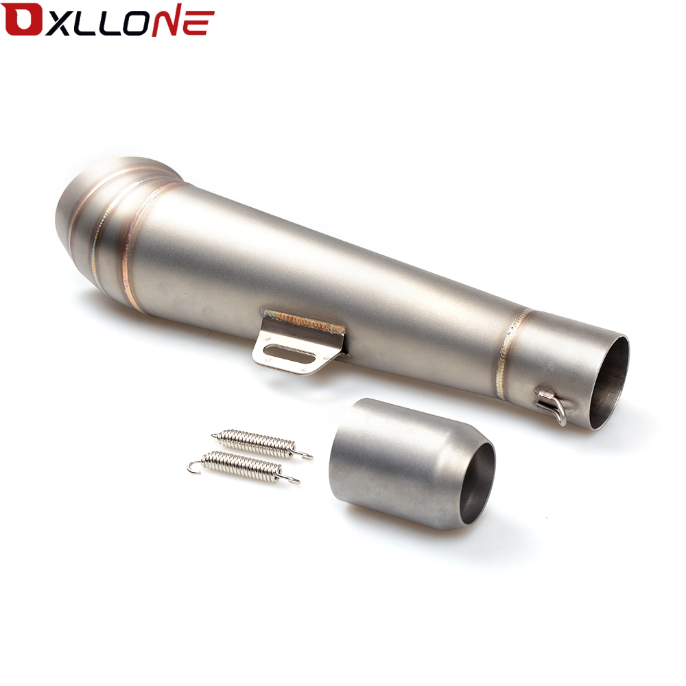 Image 3 - Universal 51MM Motorcycle Exhaust Pipe With Muffler Moto Bike Pot Escape For for honda CG125 CB190R 599 CB300F CB500F ABS-in Exhaust & Exhaust Systems from Automobiles & Motorcycles