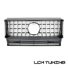 For Mercedes Benz G-class W463 G500 G63 G65 G800 1990-2018 with Emblem GT Style Front Bumper Racing Grille