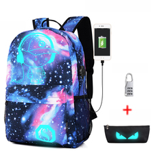 2pcs Sets Girls Nylon School Bags Women Printing Backpack Light Bag fluorescence Backpack For Teenage Girls Book bag mochila