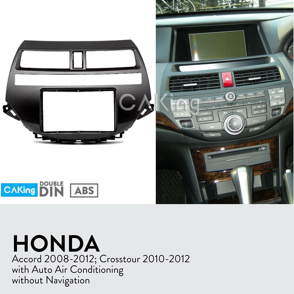 Fascia Radio Panel for Honda Accord 2008 2012 Crosstour 2010 2012 Auto Air Conditioning Dash Kit