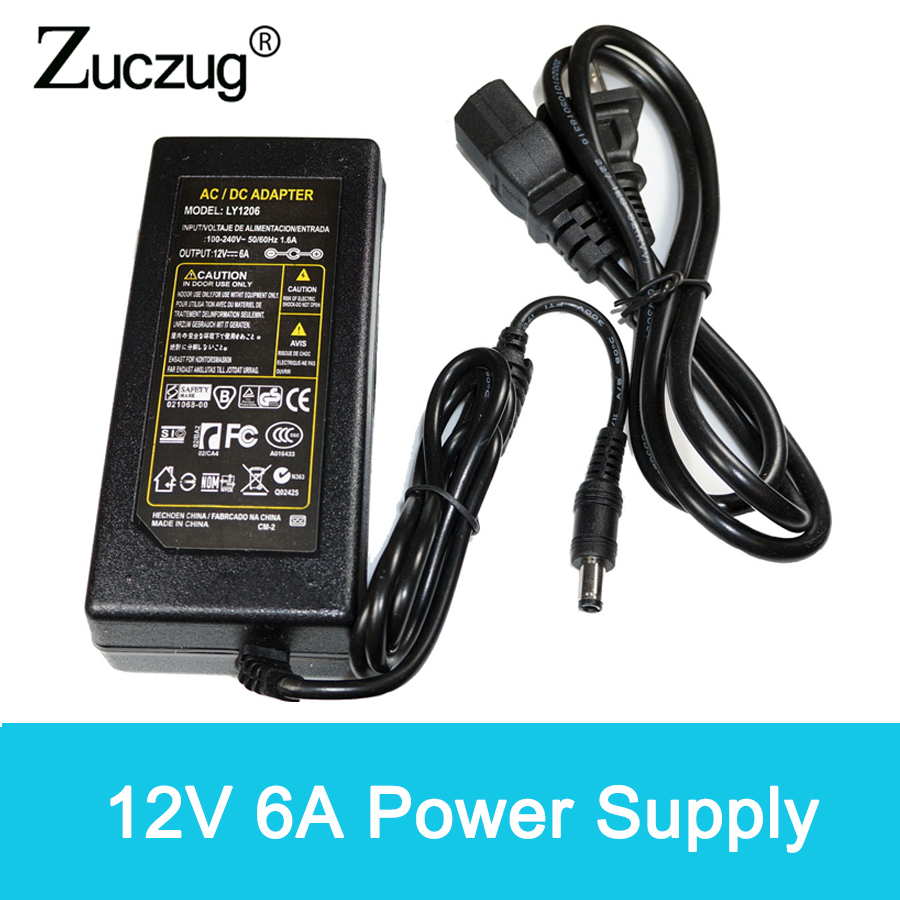 12 v Power switching Adapter ac to DC 12V 6A 72W Converter led driver Power Supply Charger For LED Strip power supplies12 v Power switching Adapter ac to DC 12V 6A 72W Converter led driver Power Supply Charger For LED Strip power supplies