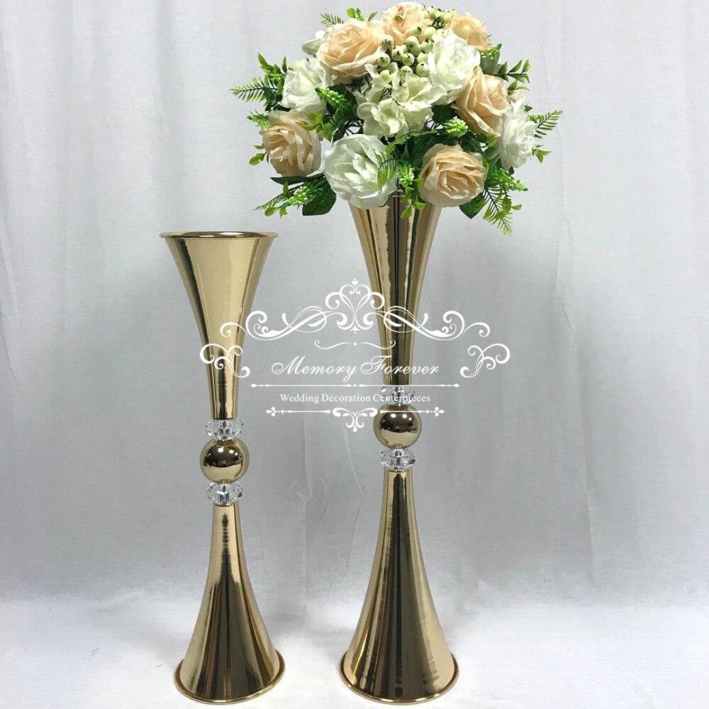 New 73cm Tall Wedding Flower Vase Metal Flower Stand Gold Flower Column Elegant Table Centerpiece Wedding Decoration Party Diy Decorations Aliexpress