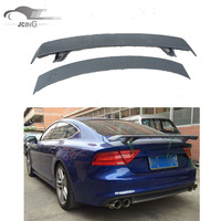 FRP Unpainted Rear Trunk Boot Spoiler Lip Wing For Audi A7 S7 RS7 2007-12 double-deck Custom Spoiler Car Tuning Parts