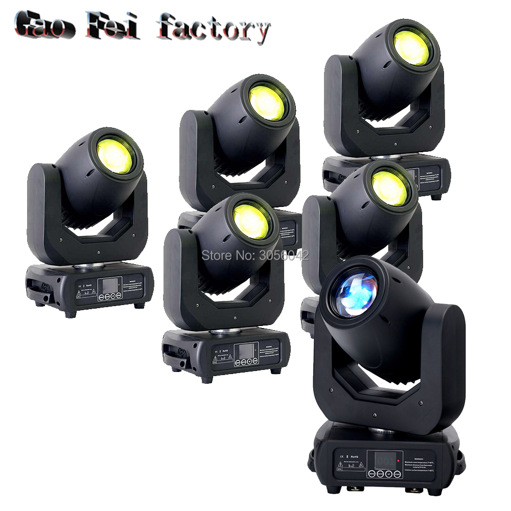 6pcs/lot ZOOM led dmx moving head spot lights 150w Effects 3 prism Spot Stage Lighting Dj Equipment