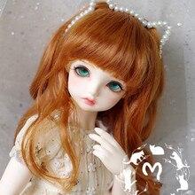 BJD кукла парики orange красный вьющиеся волосы имитация мохер парики для 1/3 1/4 1/6 BJD MSD MDD YOSD кукла парики из натуральных волос аксессуары для куклы
