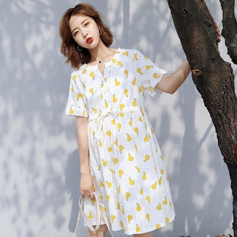New summer maternity clothing maternity dresses pregnancy dresses maternity summer clothing 1723