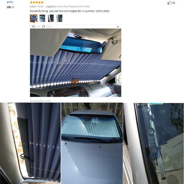 Car Retractable Curtain With Uv Protection Sunshade Car Window Sunshade Upgarde Retracta'ble SUV Truck Car Front Windshield 1