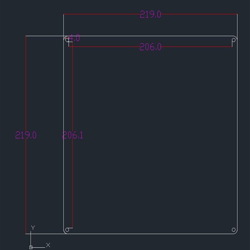impressora 3d para prusa i3 220mm cama